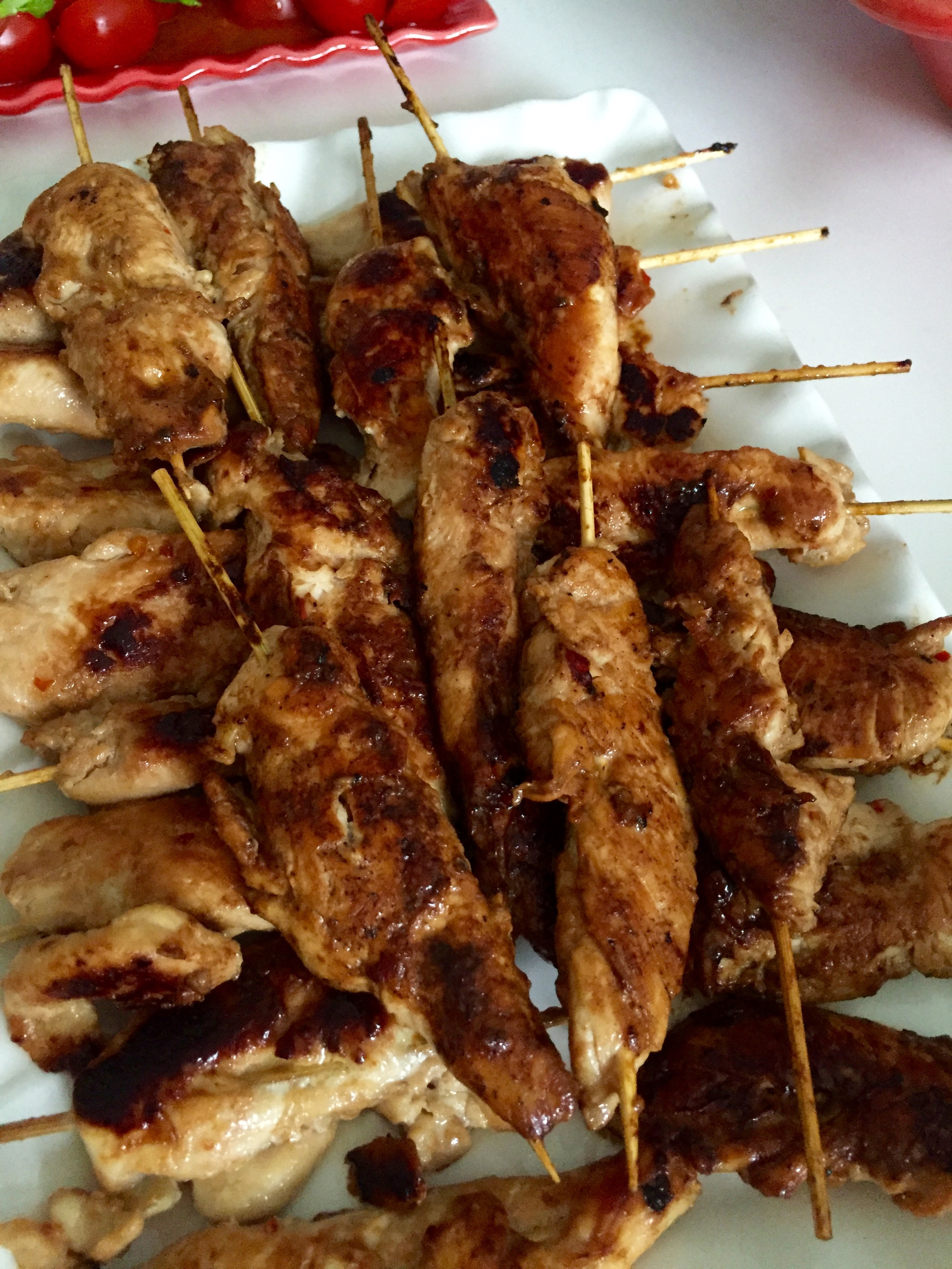 chicken satay, monika ahlberg